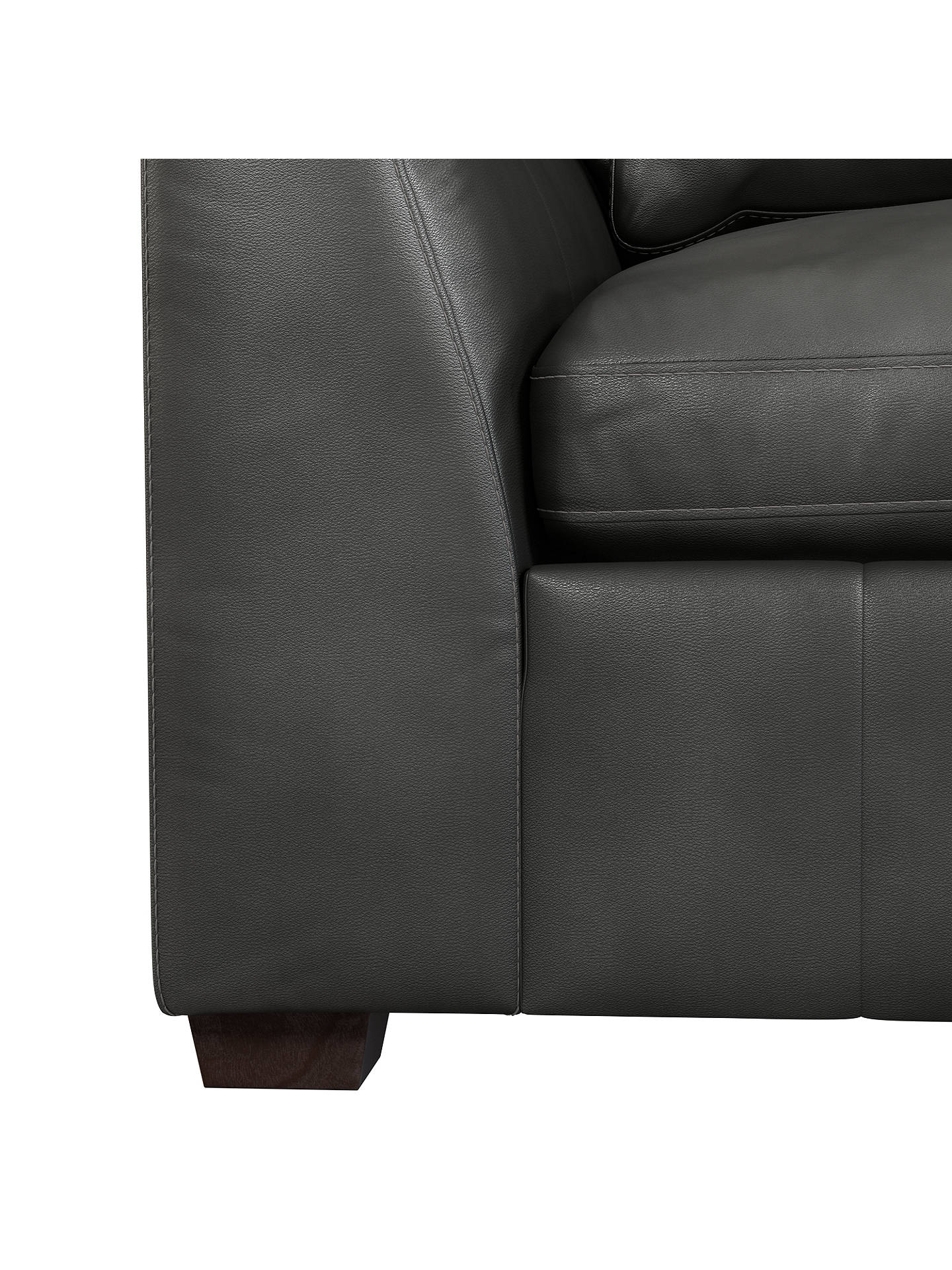 Buy John Lewis & Partners Tortona Leather Large 3 Seater Sofa, Winchester Anthracite Online at johnlewis.com
