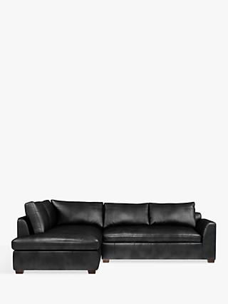 John Lewis & Partners Tortona Leather LHF Chaise End Sofa