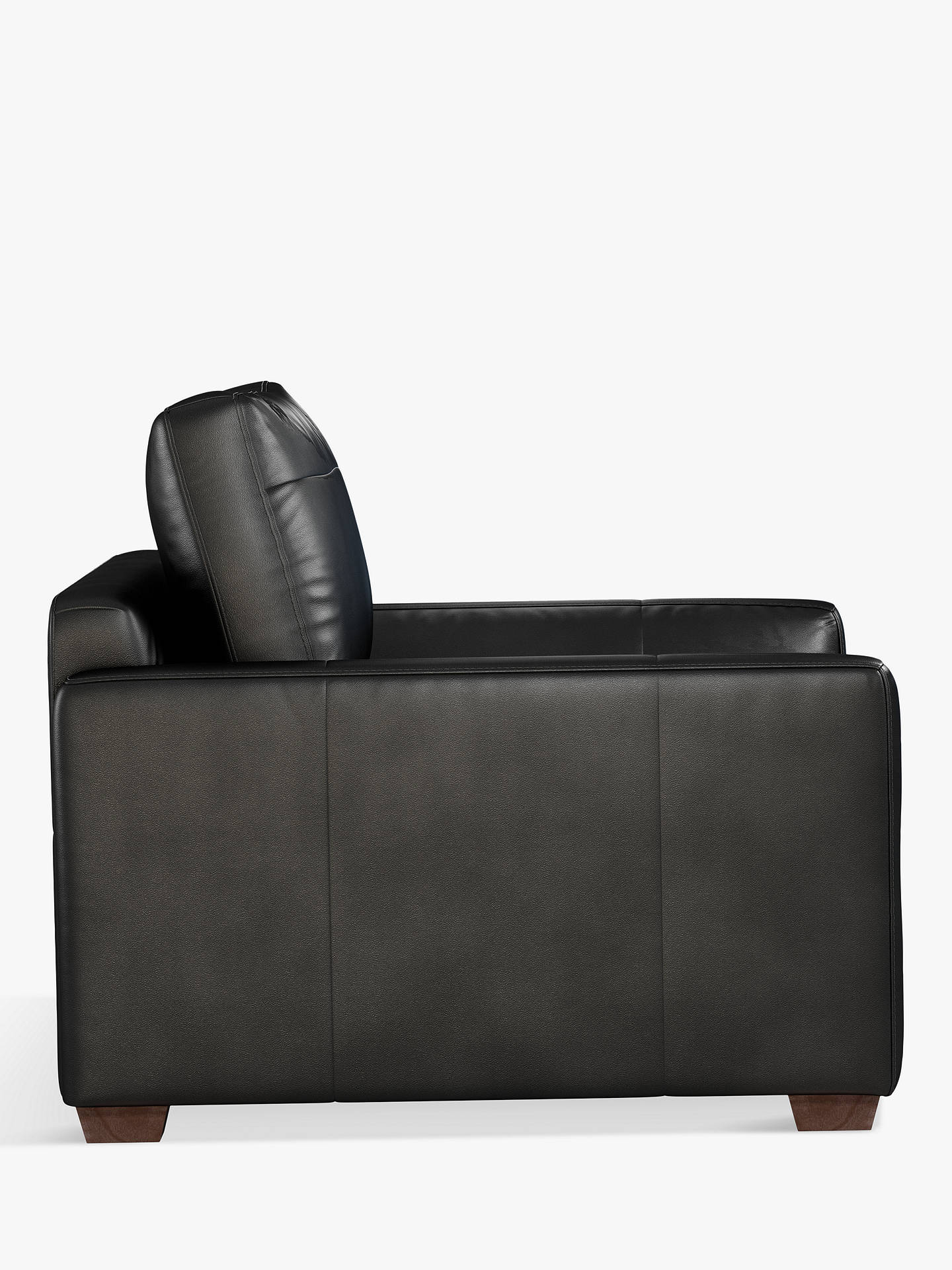 Buy John Lewis & Partners Tortona Leather Snuggler, Contempo Black Online at johnlewis.com