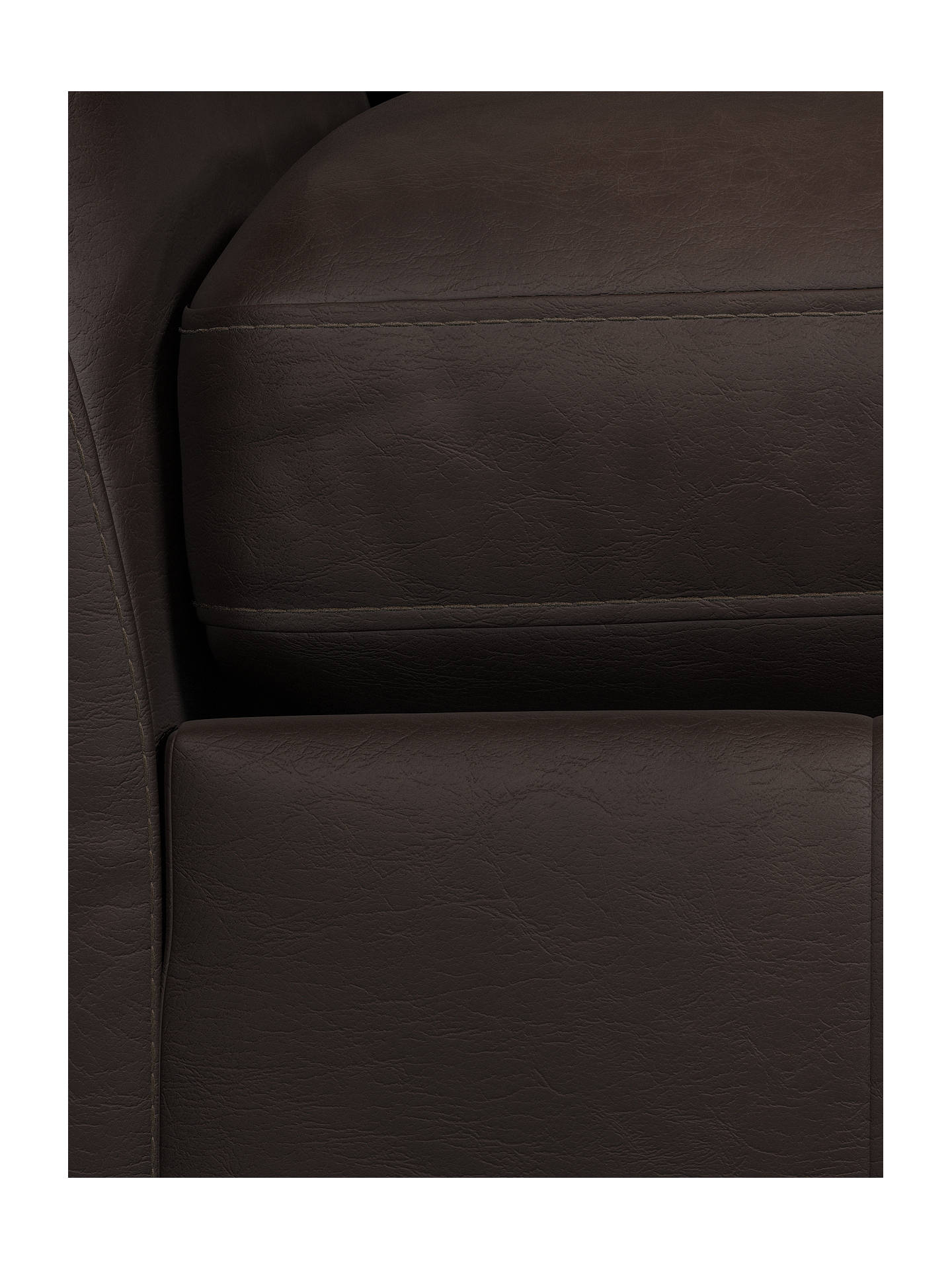 Buy John Lewis & Partners Tortona Leather Snuggler, Demetra Charcoal Online at johnlewis.com
