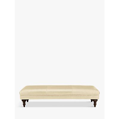 John Lewis Hensley Grand Classic Leather Footstool, Dark Leg