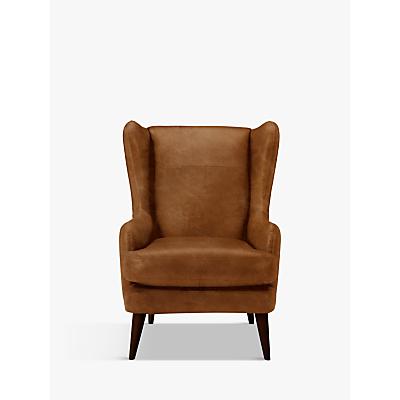 John Lewis Bergen Leather Armchair, Dark Leg