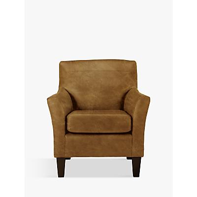 John Lewis Corey Leather Armchair, Dark Leg