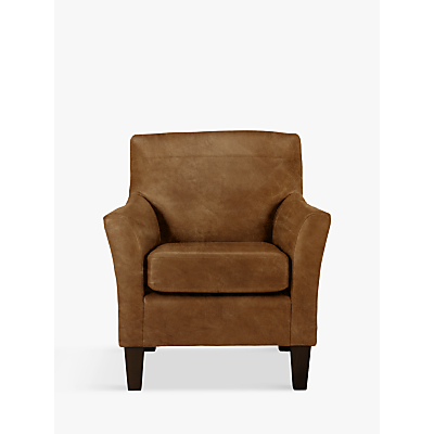 John Lewis Corey Leather Armchair, Dark Leg