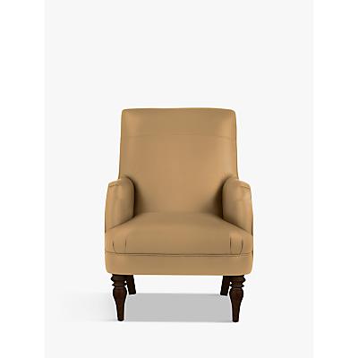 John Lewis & Partners Sterling Leather Armchair, Dark Leg
