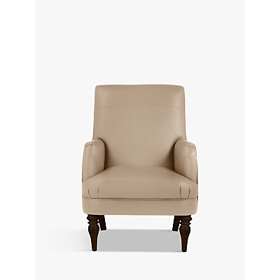 John Lewis Sterling Leather Armchair, Dark Leg
