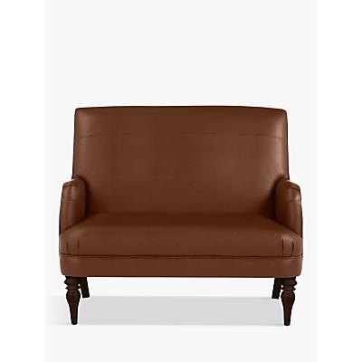John Lewis Sterling Leather Snuggler, Dark Leg