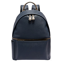 Buy Ted Baker Baarley Crossgrain Backpack, Navy Online at johnlewis.com