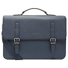 Buy Ted Baker Country Crossgrain Satchel, Navy Online at johnlewis.com