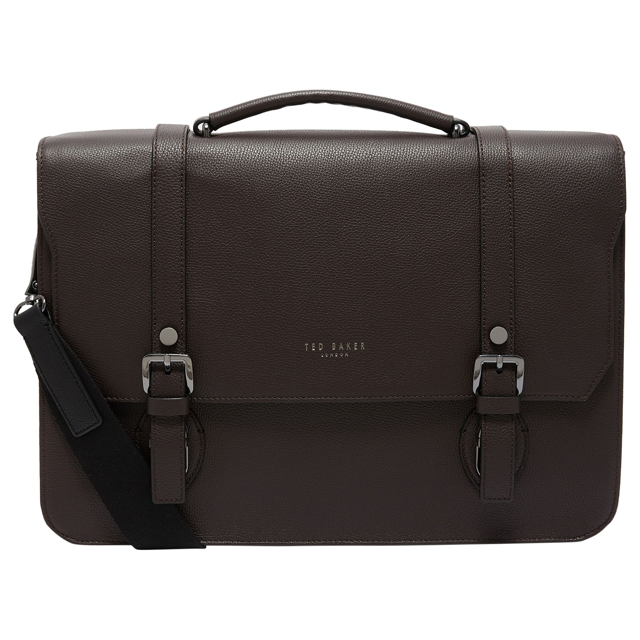 db2207f9e3b Ted Baker Nevadaa Leather Satchel, Chocolate at John Lewis & Partners