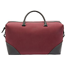 Buy Ted Baker Swipes Leather Holdall Online at johnlewis.com