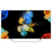 "Buy Philips 55POS9002 OLED HDR 4K Ultra HD Smart Android TV, 55"" with Freeview HD & Ambilight 3 Sided, Silver + LG SJ5 Bluetooth Sound Bar Online at johnlewis.com"