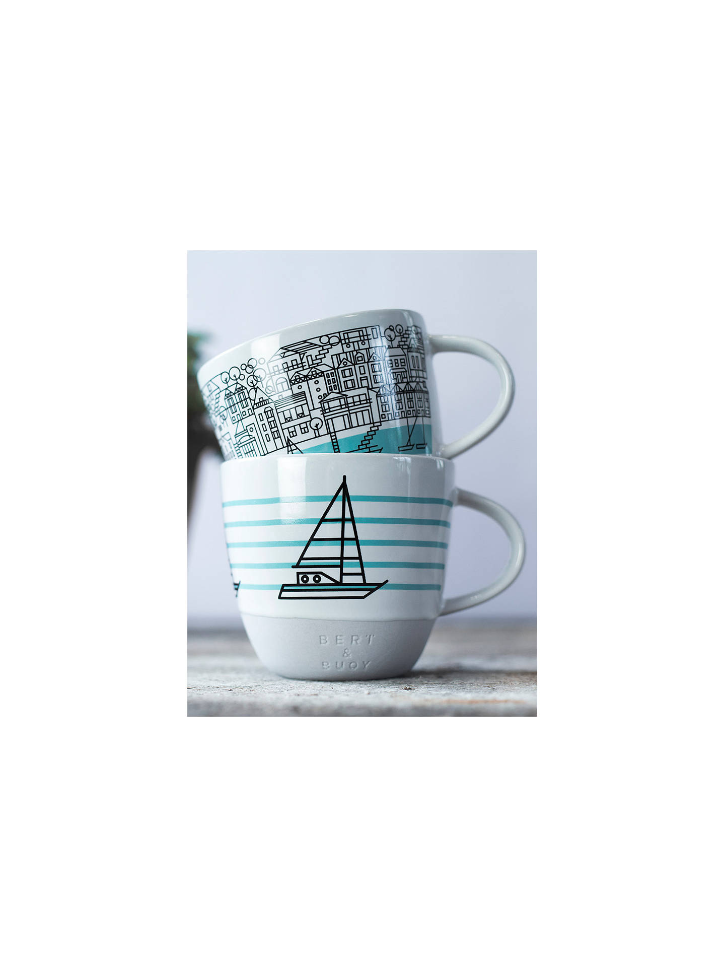 Buy Bert & Buoy Dartmouth Mug, White/Multi, 330ml Online at johnlewis.com