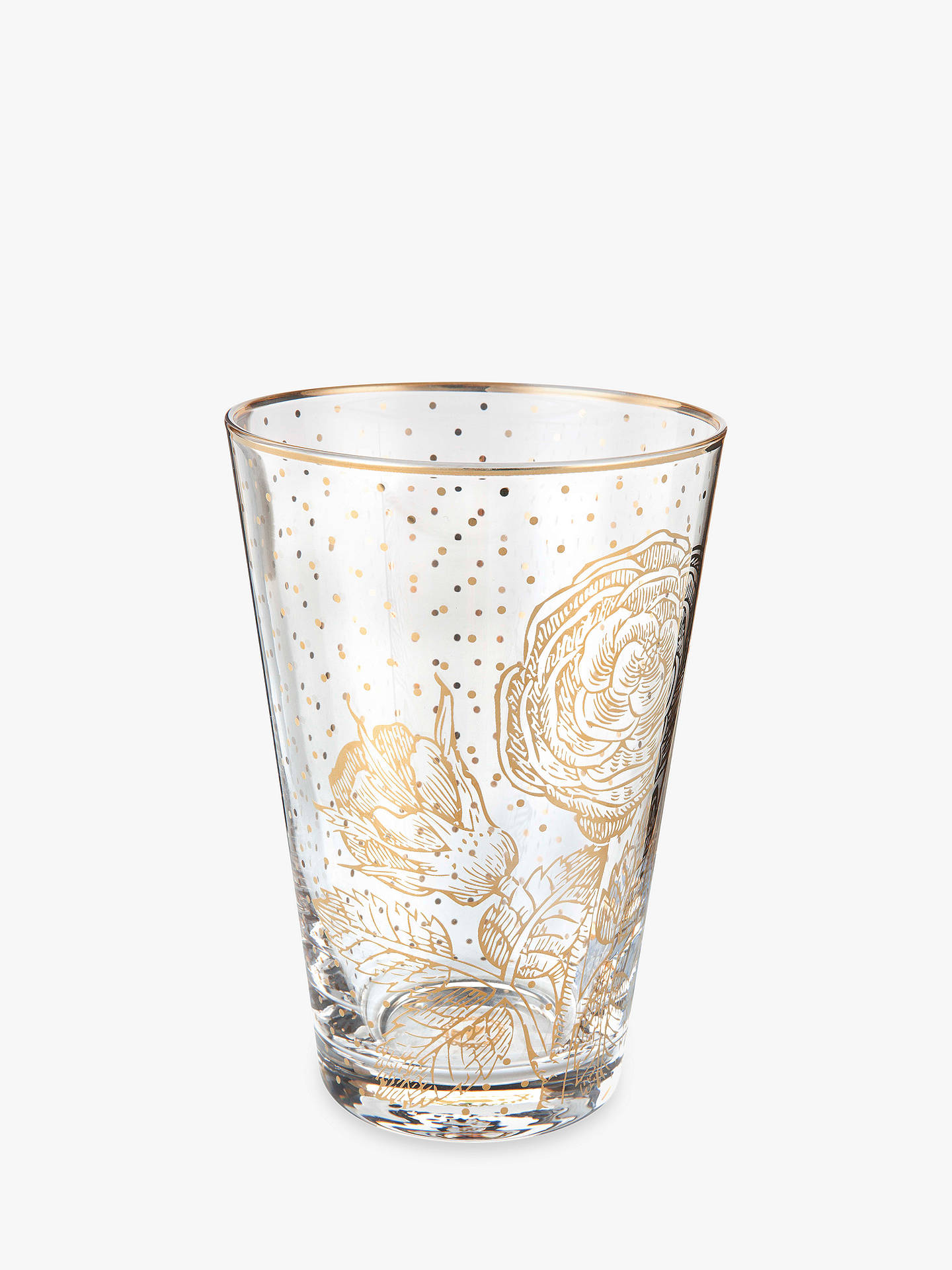 BuyPiP Studio Royal Pip Gold Flower Highball Glass, Gold/Clear, 370ml Online at johnlewis.com