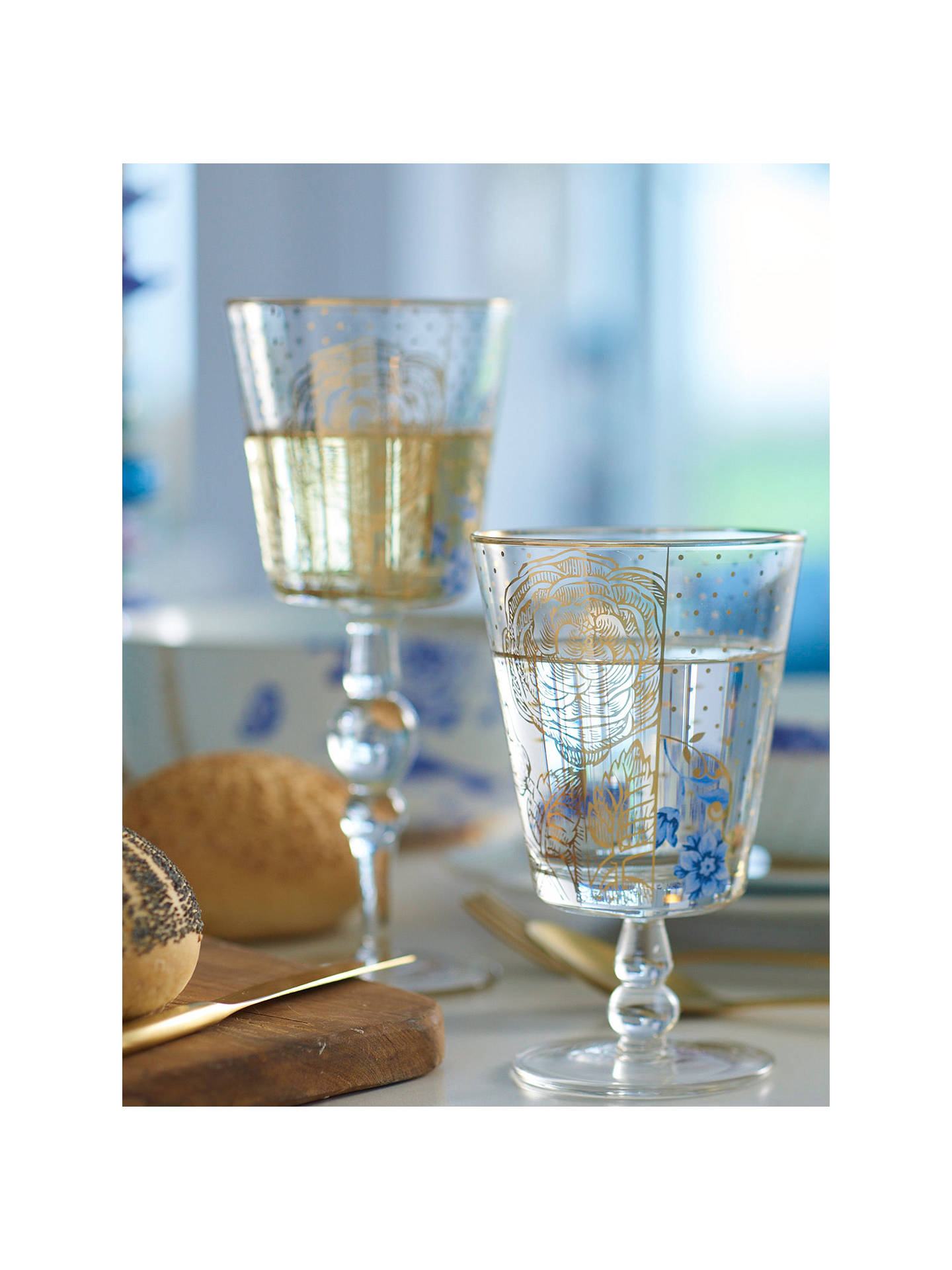 BuyPiP Studio Royal Pip Gold Dots Wine Glass, Gold/Clear, 360ml Online at johnlewis.com