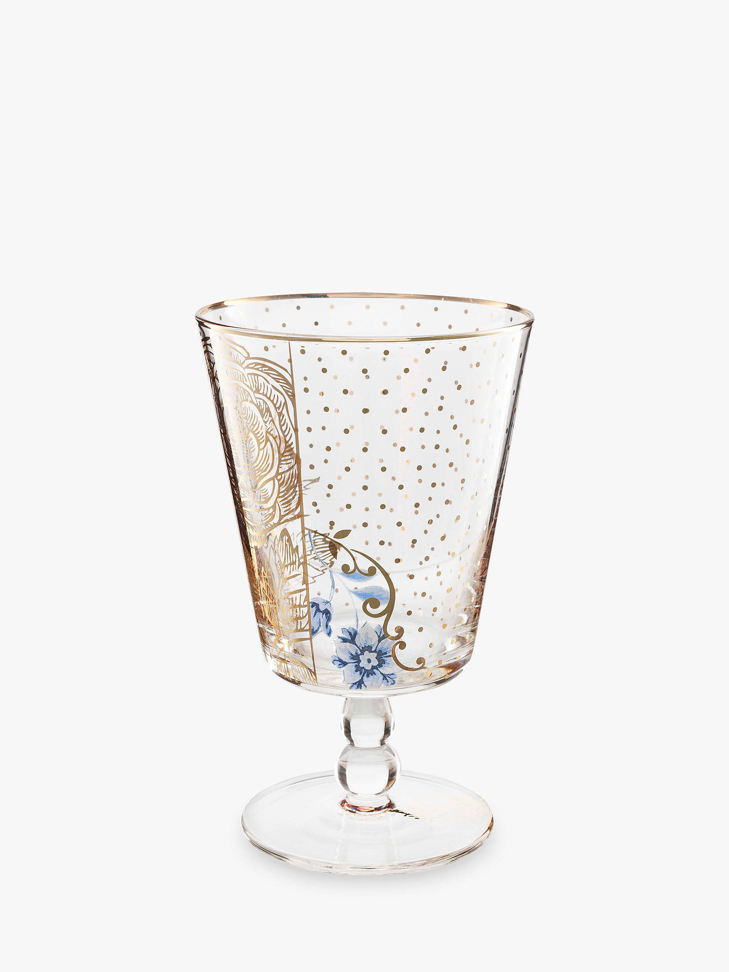Buy PiP Studio Royal Pip Gold Flower Water Glass, Gold/Clear, 360ml Online at johnlewis.com