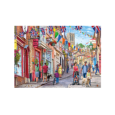 Image of Gibsons Britain's Best Streets Steep Hill Lincoln Jigsaw Puzzle, 1000 Pieces