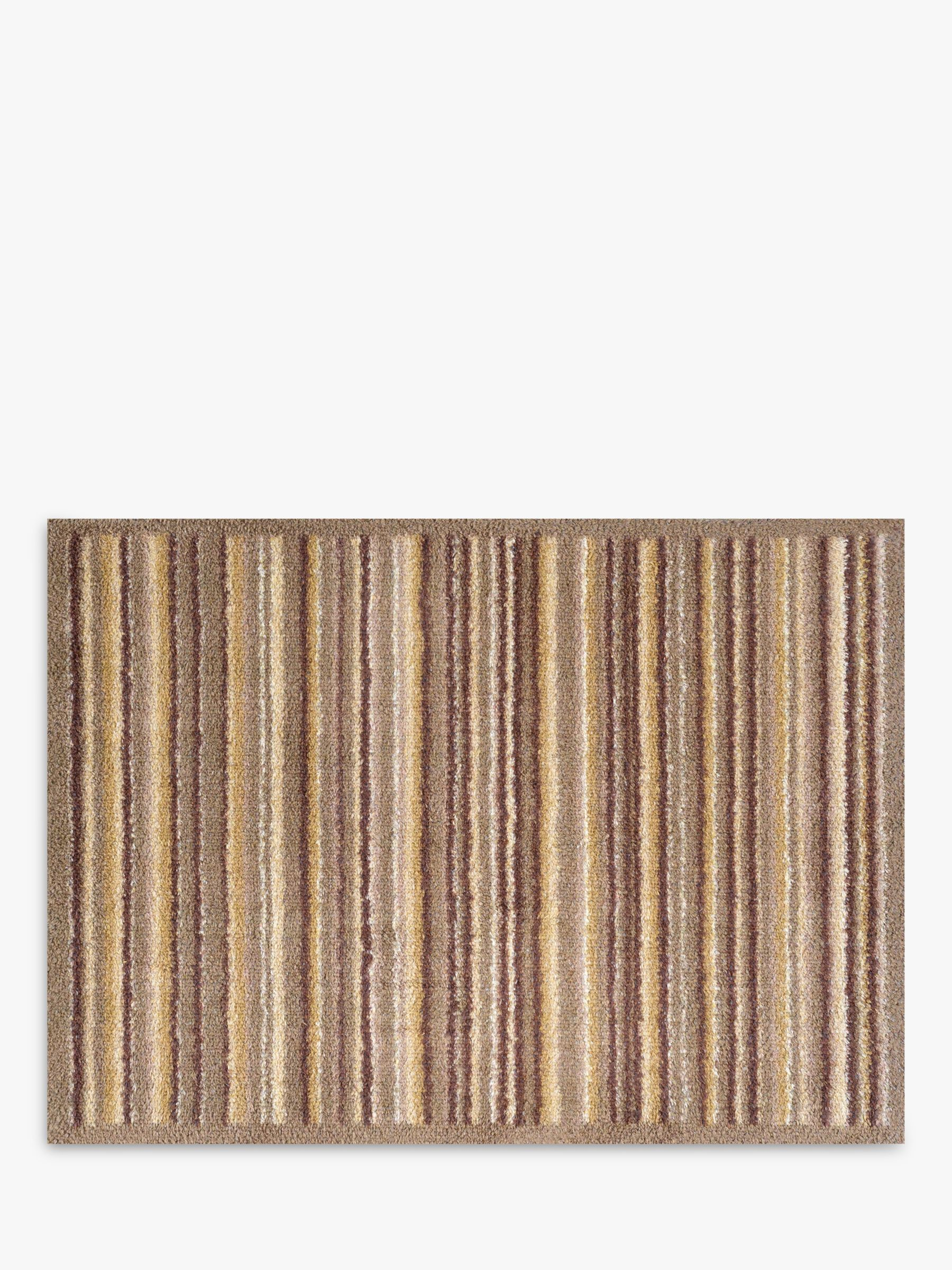 Turtle Mat Turtle Mat Sandstone Stripe Door Mat, Brown/Beige