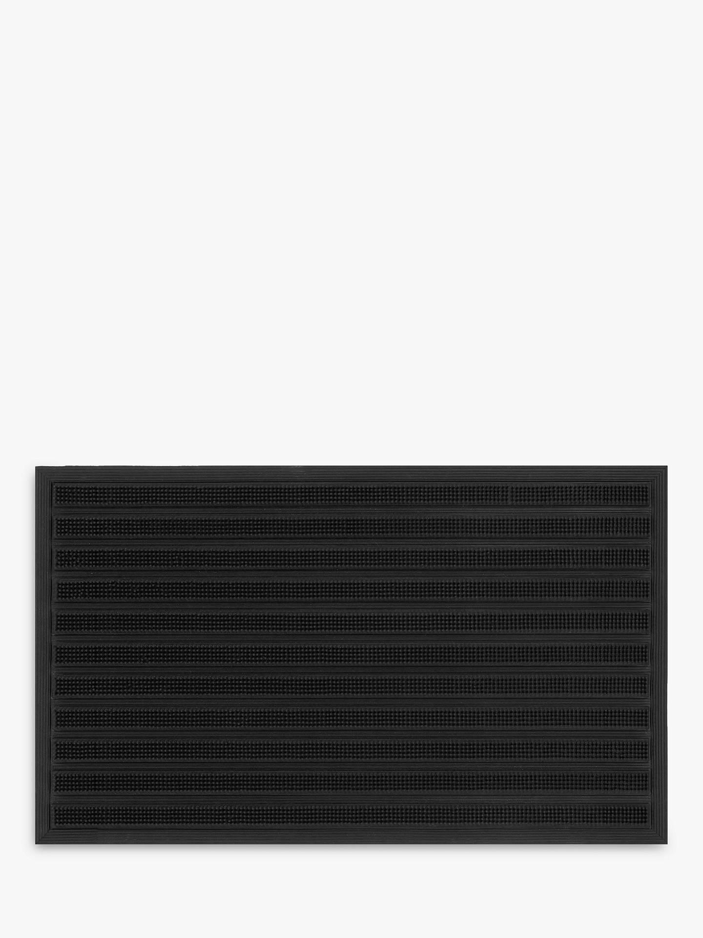 John Lewis & Partners Rubber Barrier Scraper Door Mat, Black