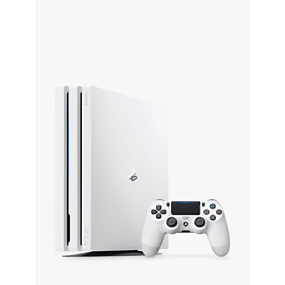 Image of Sony PlayStation 4 Pro Console, 1TB, with DualShock 4 Controller, Glacier White