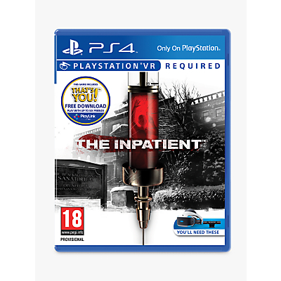 Image of The Inpatient PS VR Game for PS4