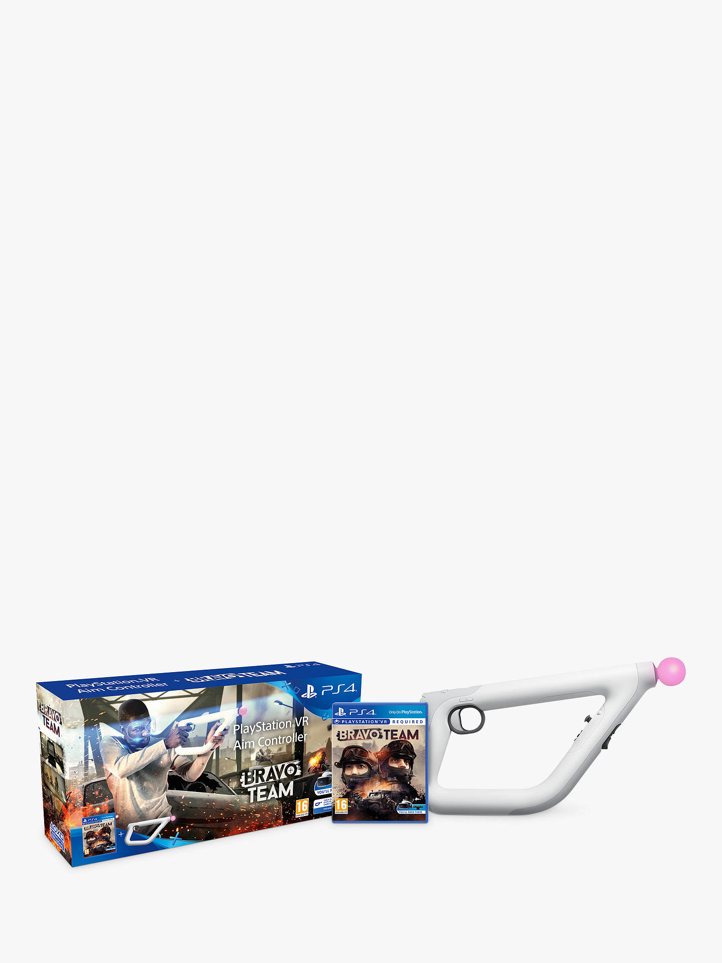 Buy Bravo Team PS VR Game for PS4 with Playstation VR Aim Controller Online at johnlewis.com
