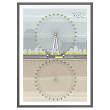 Buy Amalia Sanchez De La Blanca - London Eye Framed Print Online at johnlewis.com