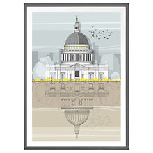 Buy Amalia Sanchez De La Blanca - St Paul's Cathedral Framed Print Online at johnlewis.com