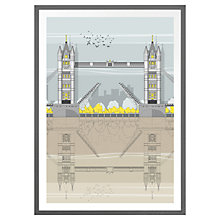Buy Amalia Sanchez De La Blanca - Tower Bridge Framed Print Online at johnlewis.com
