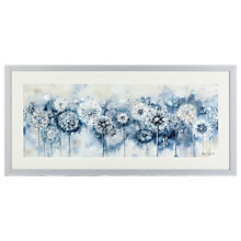 Buy Catherine Stephenson - Blue Dandelion Embellished Framed Print, 105 x 50cm Online at johnlewis.com
