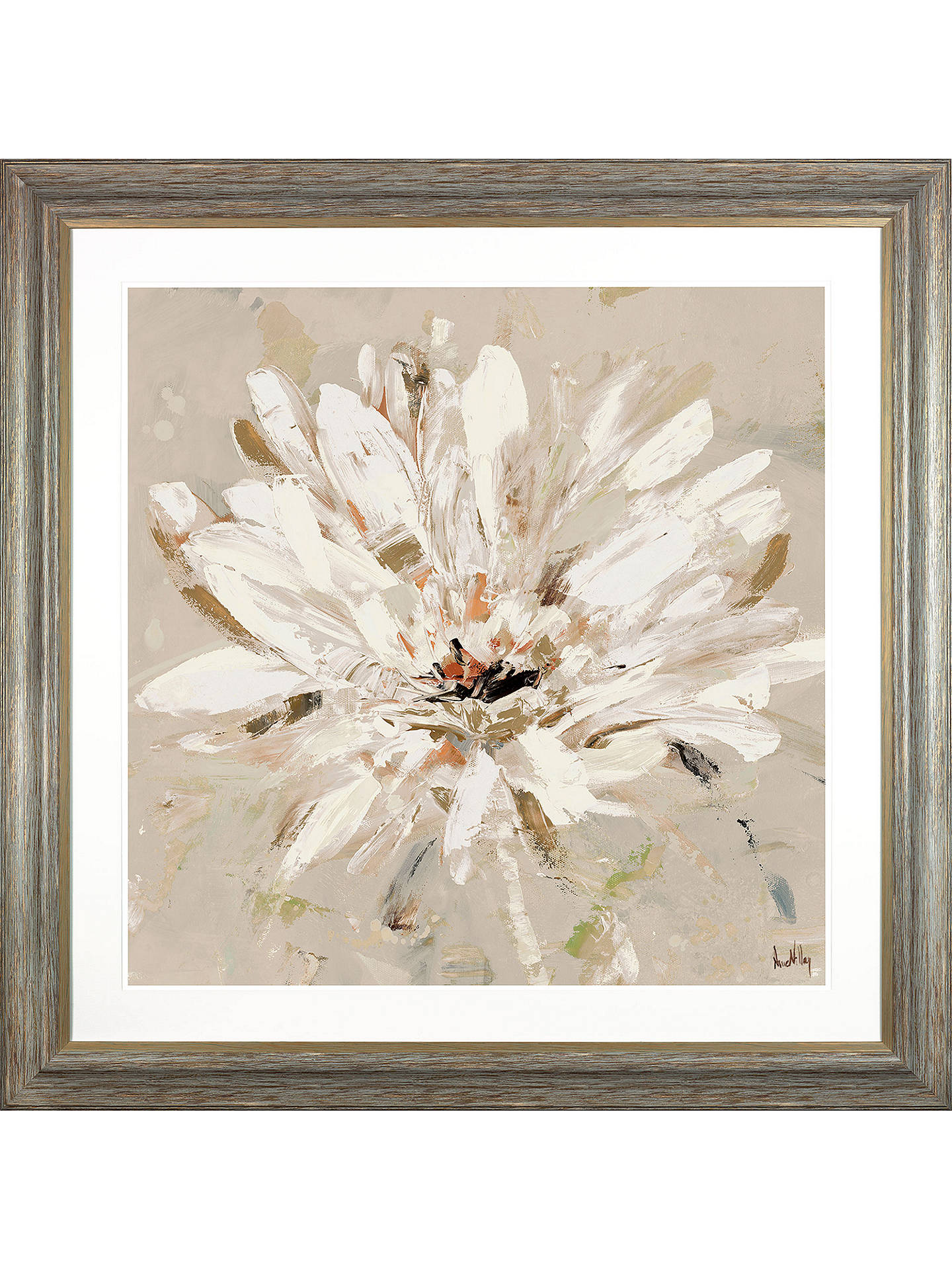 BuyAnne Villay - Nature's First White Floral Framed Print, 93 x 93cm Online at johnlewis.com