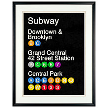 Buy Erin Clark - Subway Poster Framed Print, 61 x 51cm Online at johnlewis.com