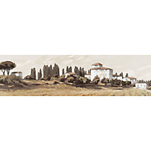 Buy Ulyana Hammond - Tuscan Hillside Stretched Canvas, 110 x 30cm Online at johnlewis.com