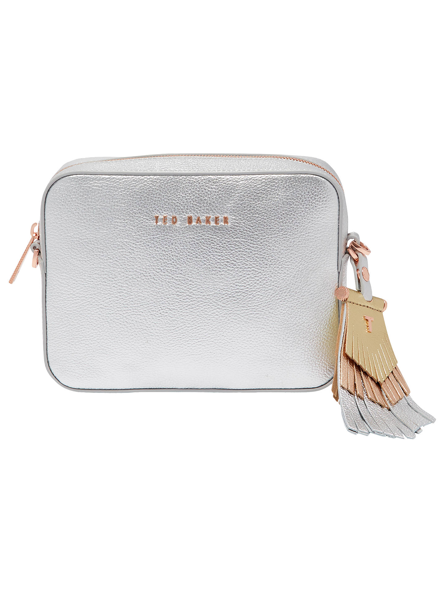 7622c61bd99 Buy Ted Baker Darwina Tassel Trim Leather Camera Cross Body Bag, Silver  Online at johnlewis ...