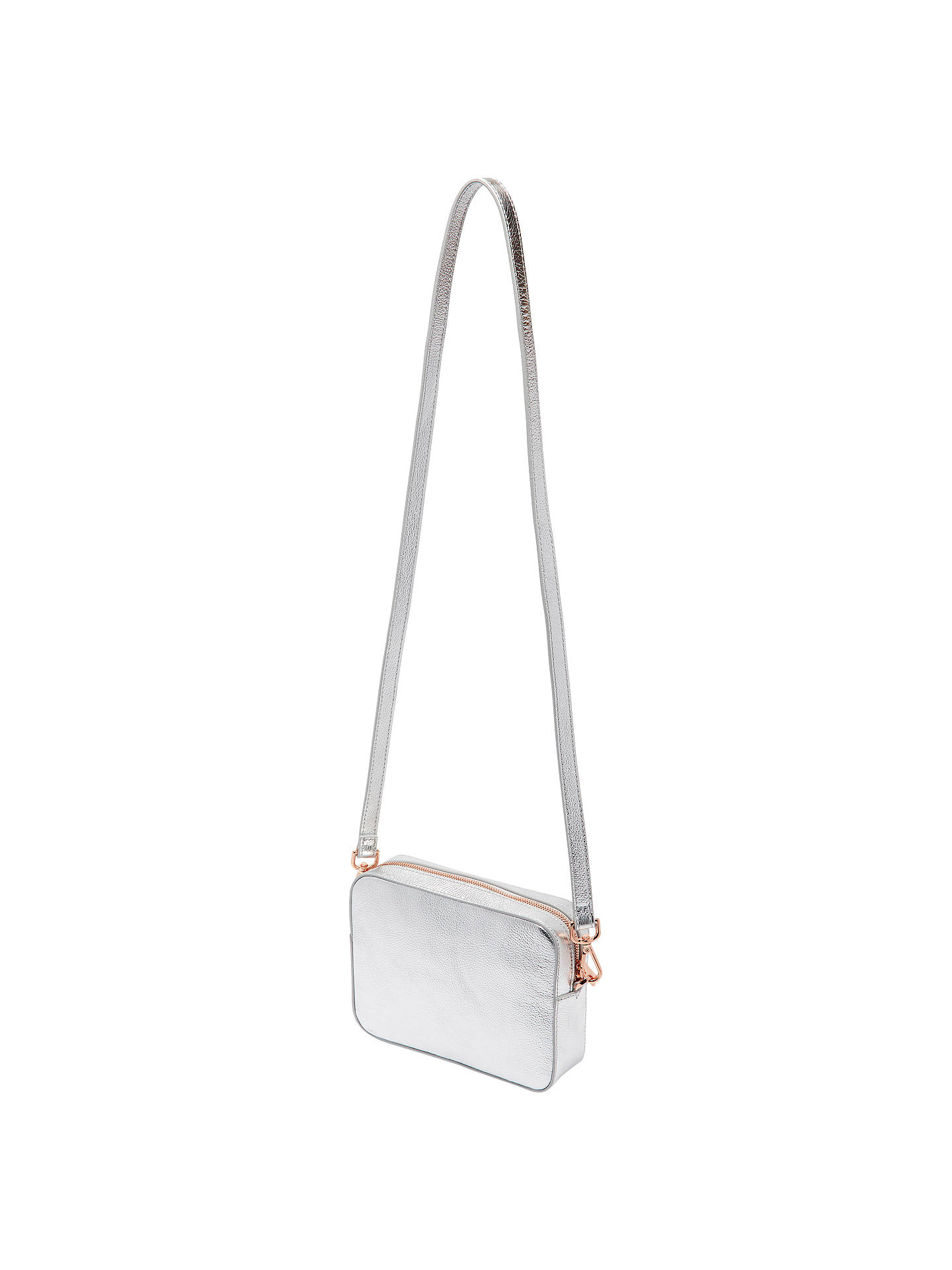 35b15a99687 ... Buy Ted Baker Darwina Tassel Trim Leather Camera Cross Body Bag, Silver  Online at johnlewis ...