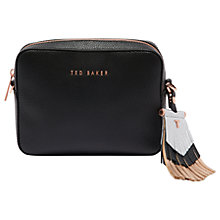 Buy Ted Baker Darwina Tassel Trim Leather Camera Cross Body Bag Online at johnlewis.com