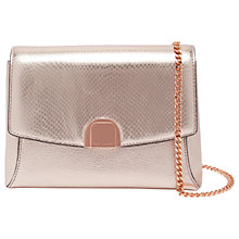 Buy Ted Baker Safron Leather Circle Lock Shoulder Bag, Bronze Online at johnlewis.com