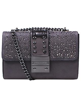 Carvela Kankan Clutch Bag, Silver