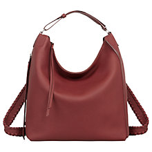 Buy AllSaints Kita Small Leather Backpack, Berry Red Online at johnlewis.com
