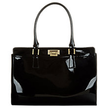 Buy Hobbs Kensington Leather Work Bag, Black Online at johnlewis.com