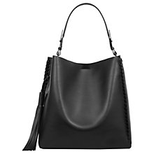Buy AllSaints Kepi Leather North South Tote Bag Online at johnlewis.com
