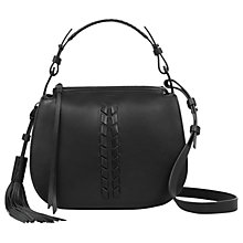 Buy AllSaints Kepi Leather Cross Body Bag, Black Online at johnlewis.com