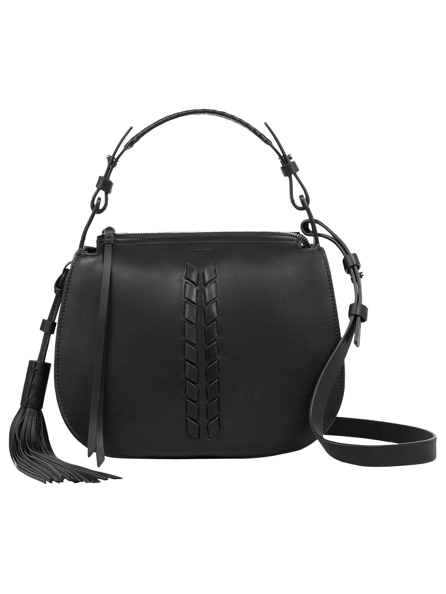 top-rated original replicas choose best AllSaints Kepi Leather Cross Body Bag, Black at John Lewis ...