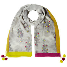 Buy White Stuff Forest Embroidered Borders Scarf, Multi Online at johnlewis.com