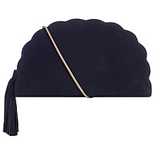 Buy Hobbs Megan Scallop Detail Clutch Bag, Navy Online at johnlewis.com