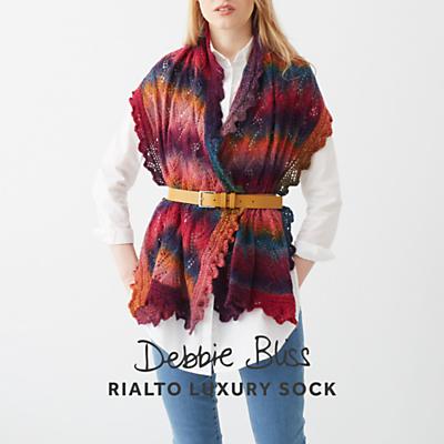 Debbie Bliss Rialto Luxury Sock Women's Wrap Knitting Pattern Review