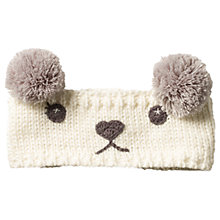 Buy Fat Face Children's Polar Bear Headband, Ecru Online at johnlewis.com