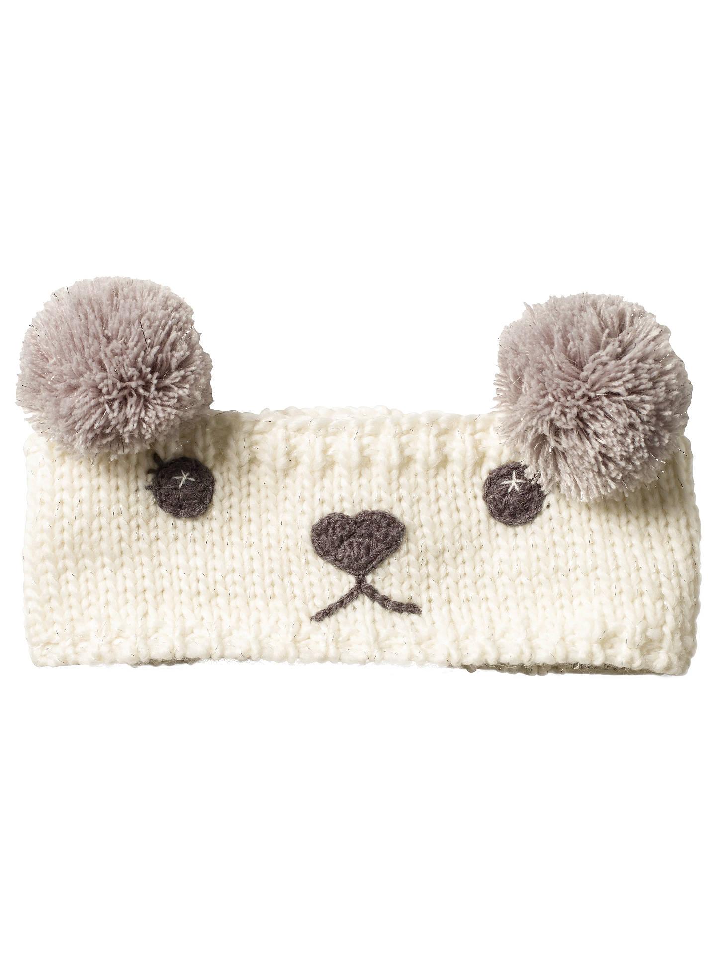 d6debc635 Fat Face Children's Polar Bear Headband, Ecru