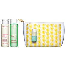 Buy Clarins Cleansing Trousse Combination/Oily Skincare Set Online at johnlewis.com