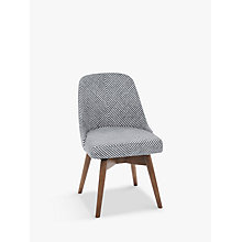 Buy west elm Mid-Century Dining Chair, Gravel Stripe Online at johnlewis.com
